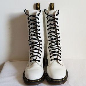 Sr Marten England Tall White Combat Boots